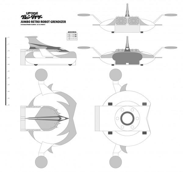 Les plans du Spacer Jumbo Goldorak de HL Pro