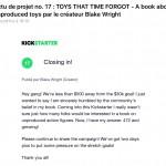 Toys That Time Forgot : un livre sur les jouets non produits en projet Kickstarter