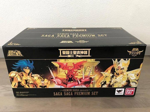 SAINT SEIYA MYTH CLOTH EX : le set SAGA SAGA